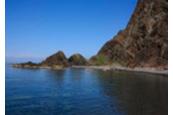 アナマ岩~宇遠内間の海岸線